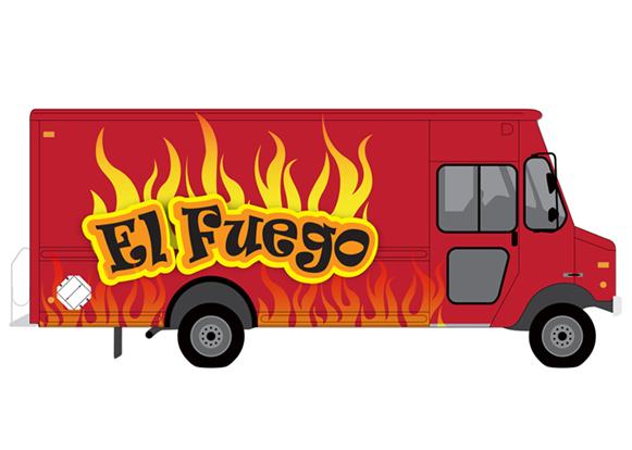 El Fuego Food Truck Mockup