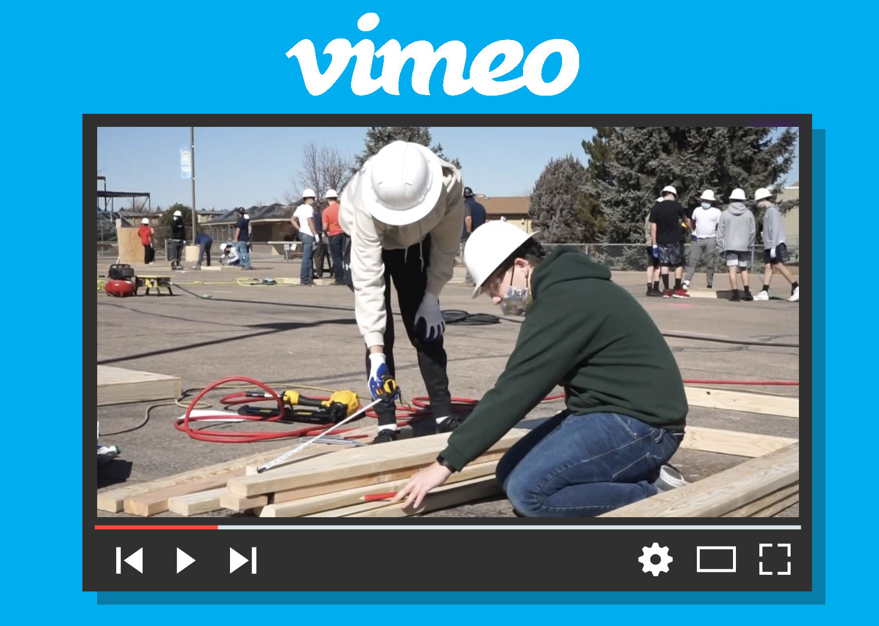 Greeley West High School Construction Pathway Building Competition